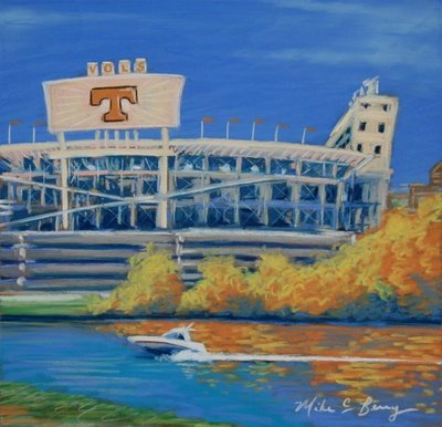 Neyland Stadium in the Fall