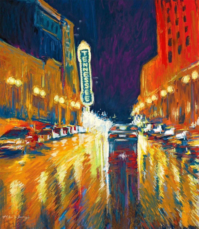 Gay Street Rainy Night