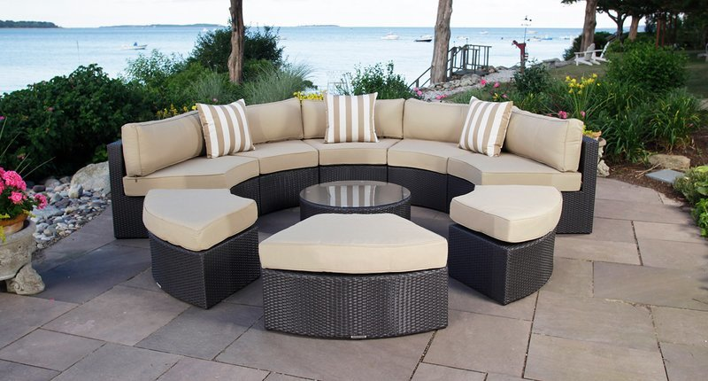 outdoor sectional sets round patio