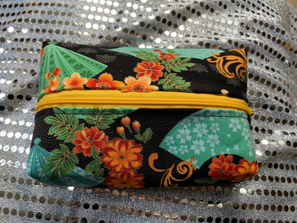 Zipper Box Pouch Small - Japanese Fans Theme