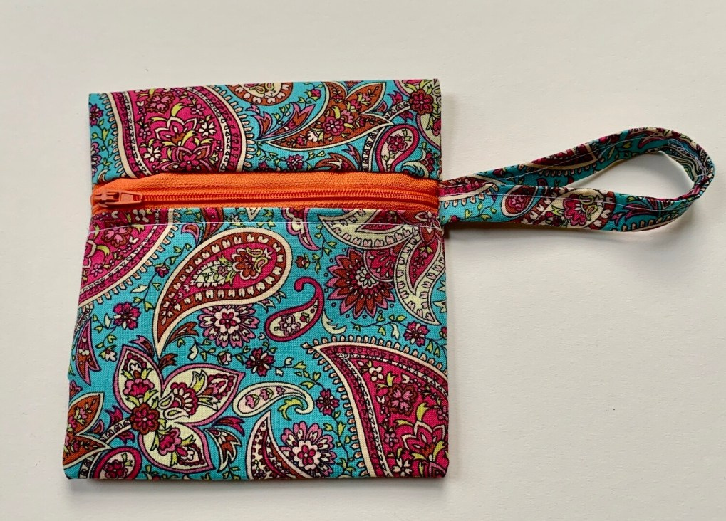 Coin Purse - Paisley Blue