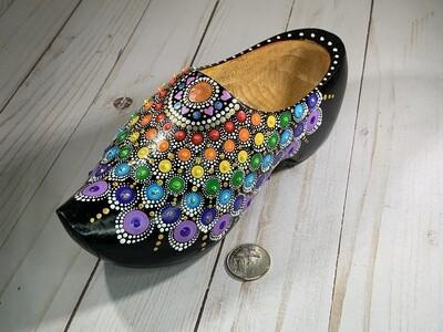Rainbow Clogs with Mandala Art
