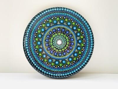 Shades of Blue Mandala Wall Decor