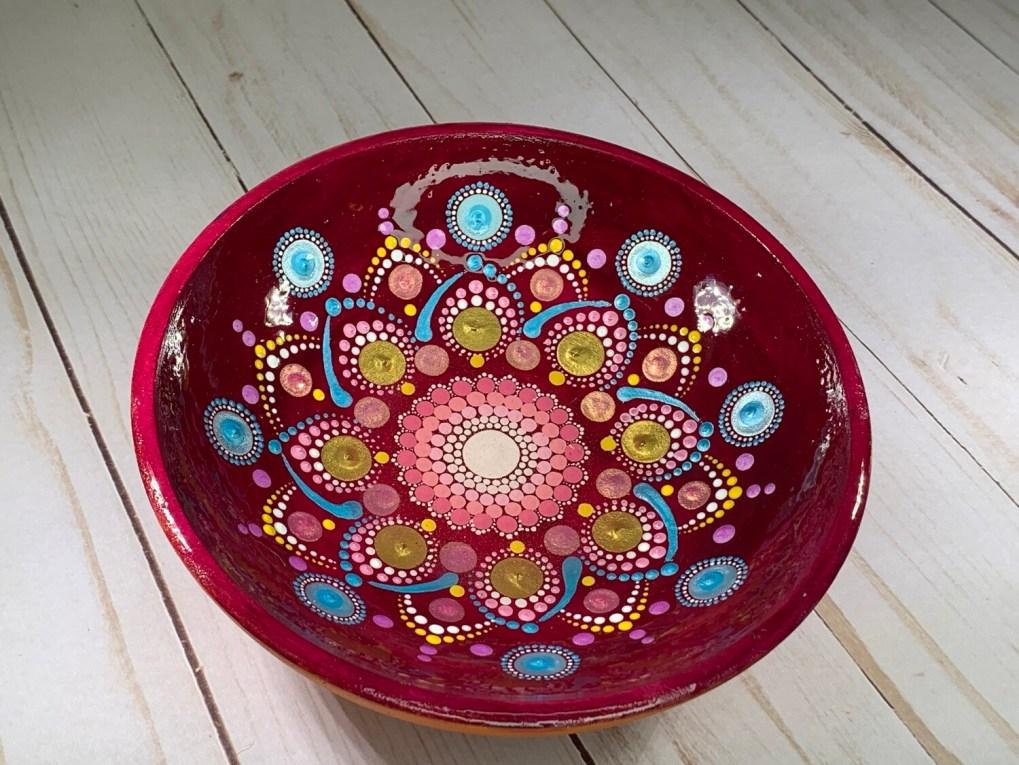 Red Mandala Bowl