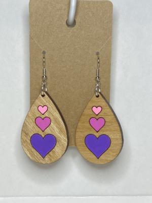 Wooden Hearts Teardrop