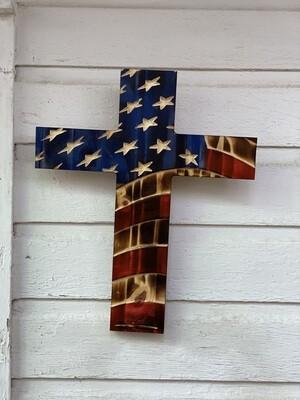 XL Wavy American Cross