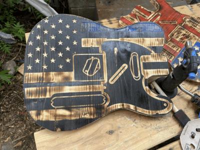 Thin Blue Line Guitar