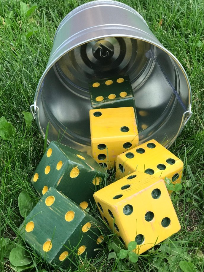 Backyard Bones Green and Gold * Bucket not included
