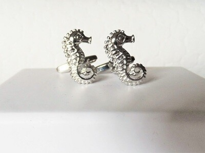 Lucky seahorse cufflinks to say Be Positive