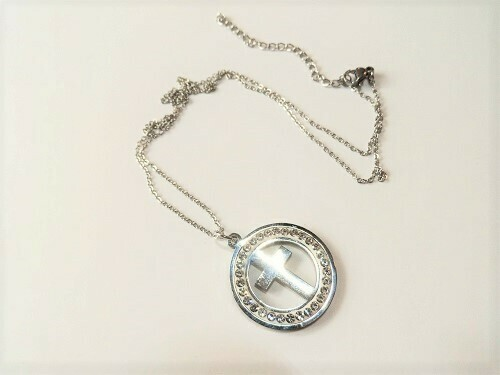 Circle of light cross necklace ~ Take Care
