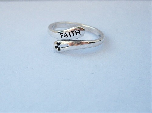 Cross of FAITH ring - gift for strength of purpose