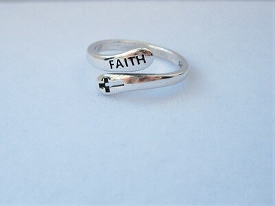 Cross of FAITH ring - gift for strength of purpose