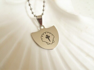 sAfe Jewellery - Travellers Shield necklace for safekeeping ~ broad