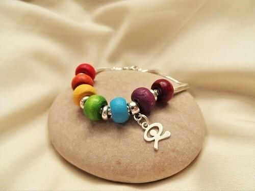 Indalo bracelet ~  Rainbow of Hope