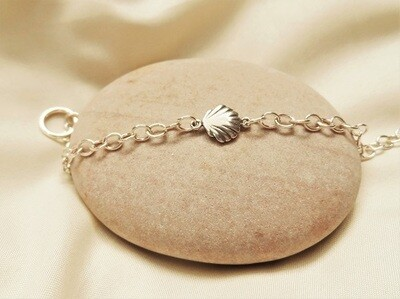 Charm bracelet for a new Camino, with scallop shell - 925 silver