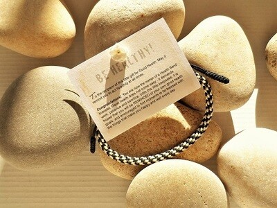 Health bracelet - Gift to wish Good Health ~ Black/White