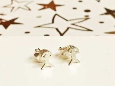 Indalo stud earrings ~ 925 silver classic