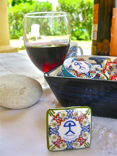 Ceramic wine stoppers ~ Indalo, square