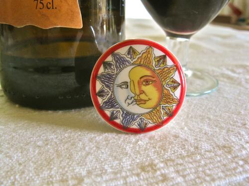 Spanish ceramic wine stoppers ~ sun series