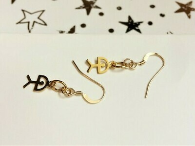 Indalo Man earrings ~ gold-filled, classic