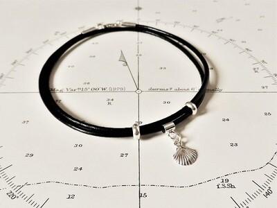 Camino memento or Journey inspiration bracelet - wraparound with scallop shell