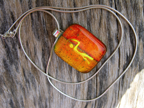 Dichroic glass necklace ~ Indalo GUARDIAN