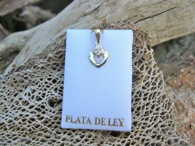 Indalo pendant ~ silver, double heart