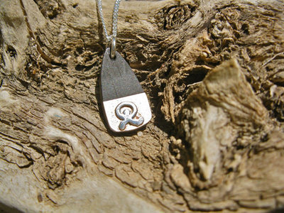 Indalo necklace  ~ sterling silver + mahogany
