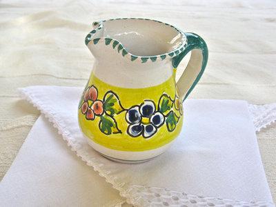 Talavera pottery jug ~ garland, small
