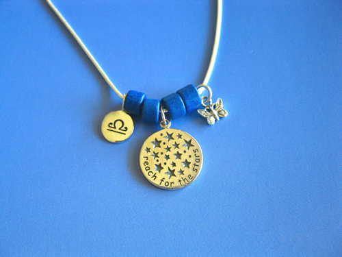 Reach for the Stars Zodiac necklace, sterling silver