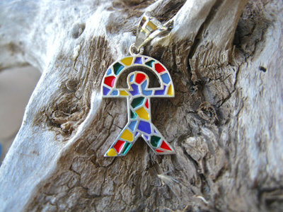 Indalo pendant for Wellness ~ classic, silver + enamel large