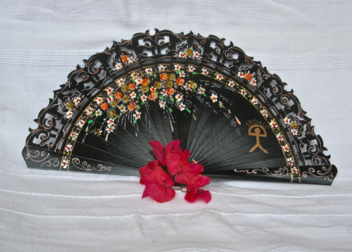 Spanish fan ~ double-sided Indalo maestranza
