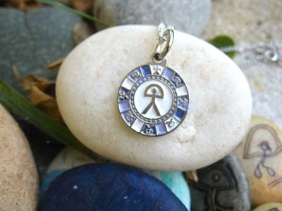 Indalo charm necklace ~ enamel disc