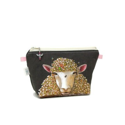 Floral Sheep Portrait - Mini Wedge