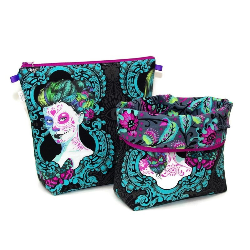 Day of the Dead - Possessed in Aqua - Tall Wedge