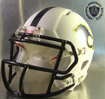 Cypress Ranch Mustangs HS 2012 with navy stripe (TX) (mini-helmet)