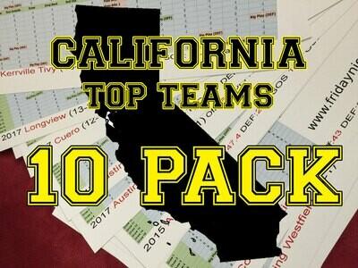 Top California Teams 10 Pack - FNL team sheet