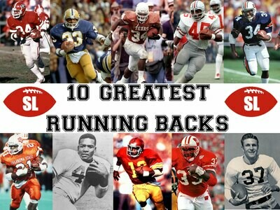 Saturday Legends 10 Greatest College Football Running Backs