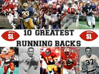 Saturday Legends 10 Greatest College Football Running Backs