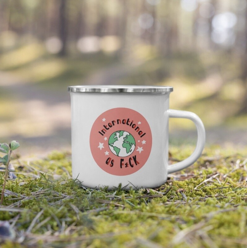 Feminist as F*ck Enamel Coffee Mug