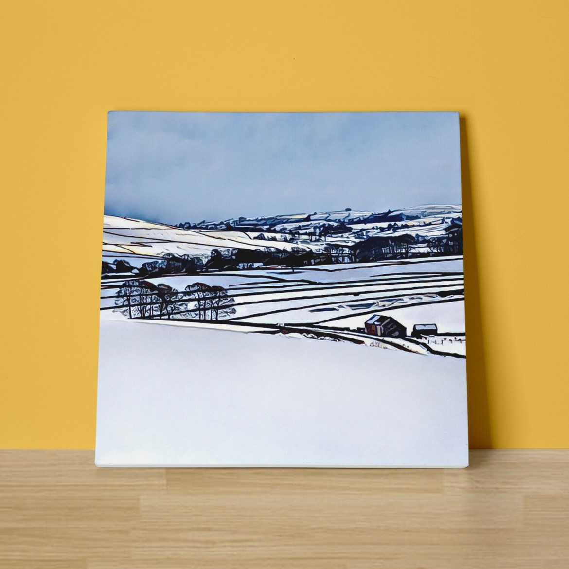 Snowy Dales Canvas Print