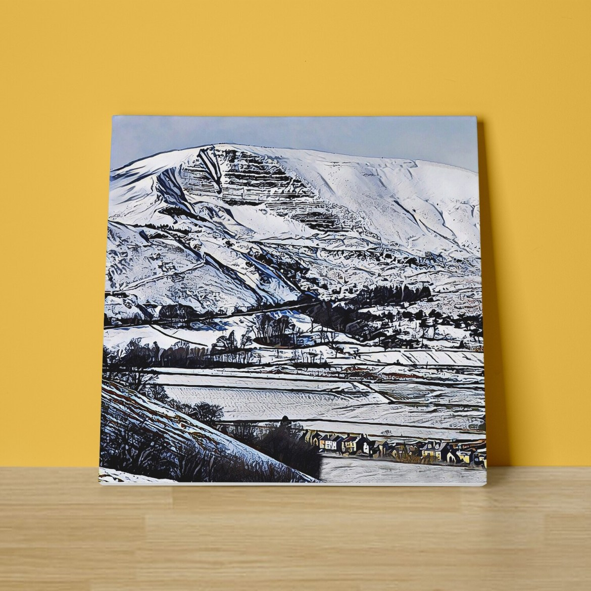 Mam Tor Snow Canvas Print
