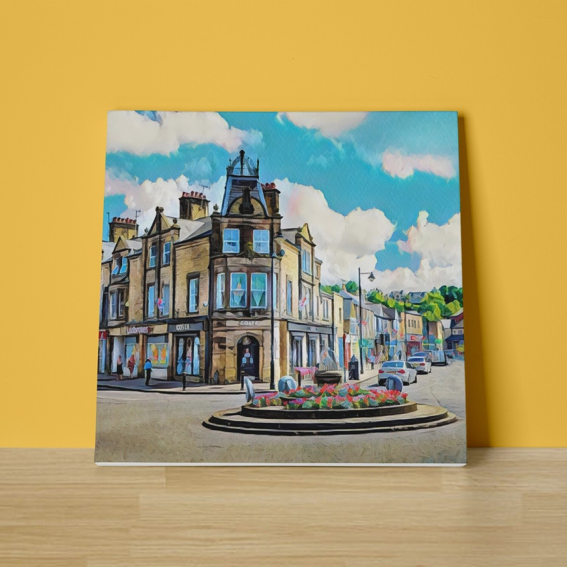 Crown Square Canvas Print