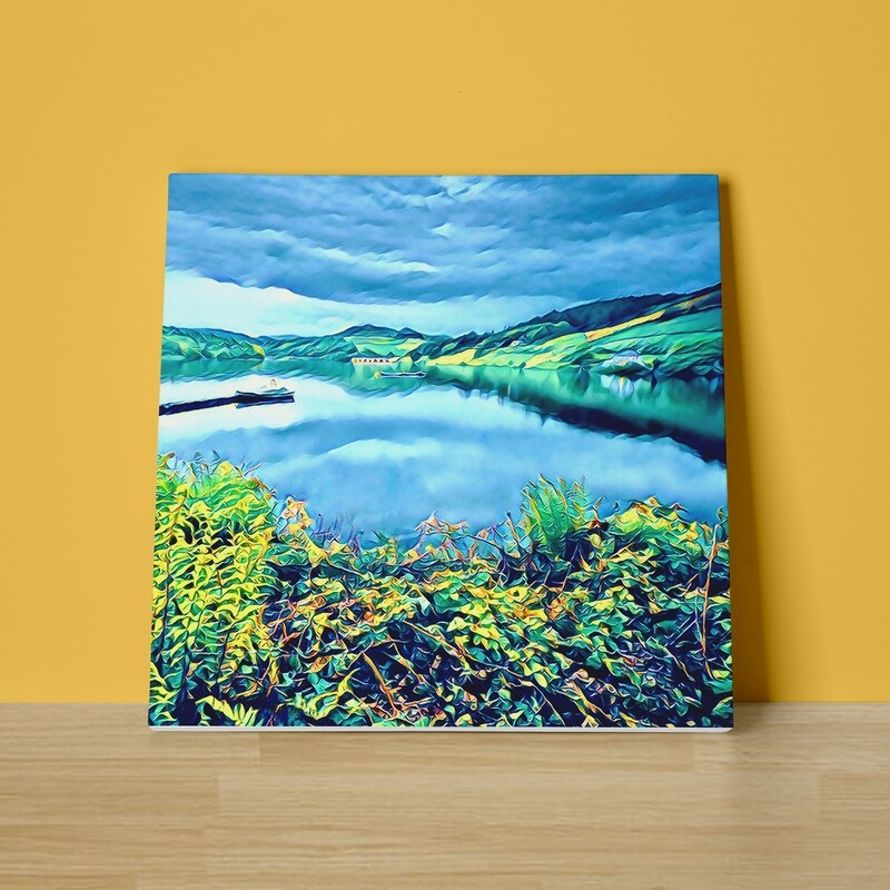 Ladybower Reflections Canvas Print