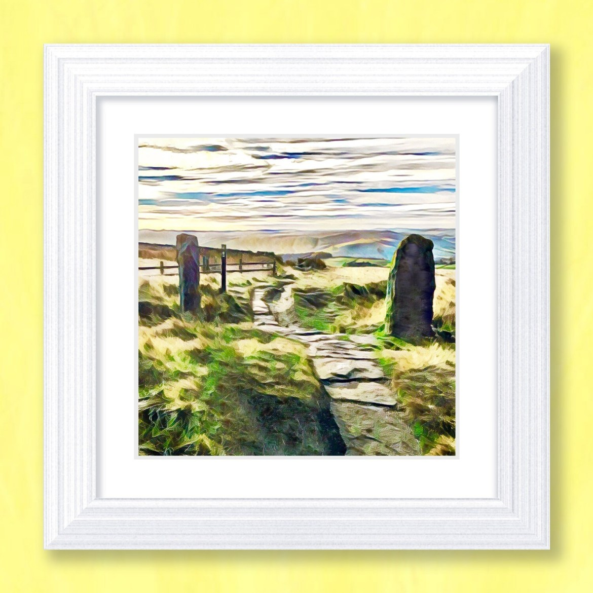 Stanage View Art Print