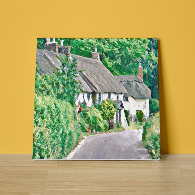 Countryside Cottages Canvas Print