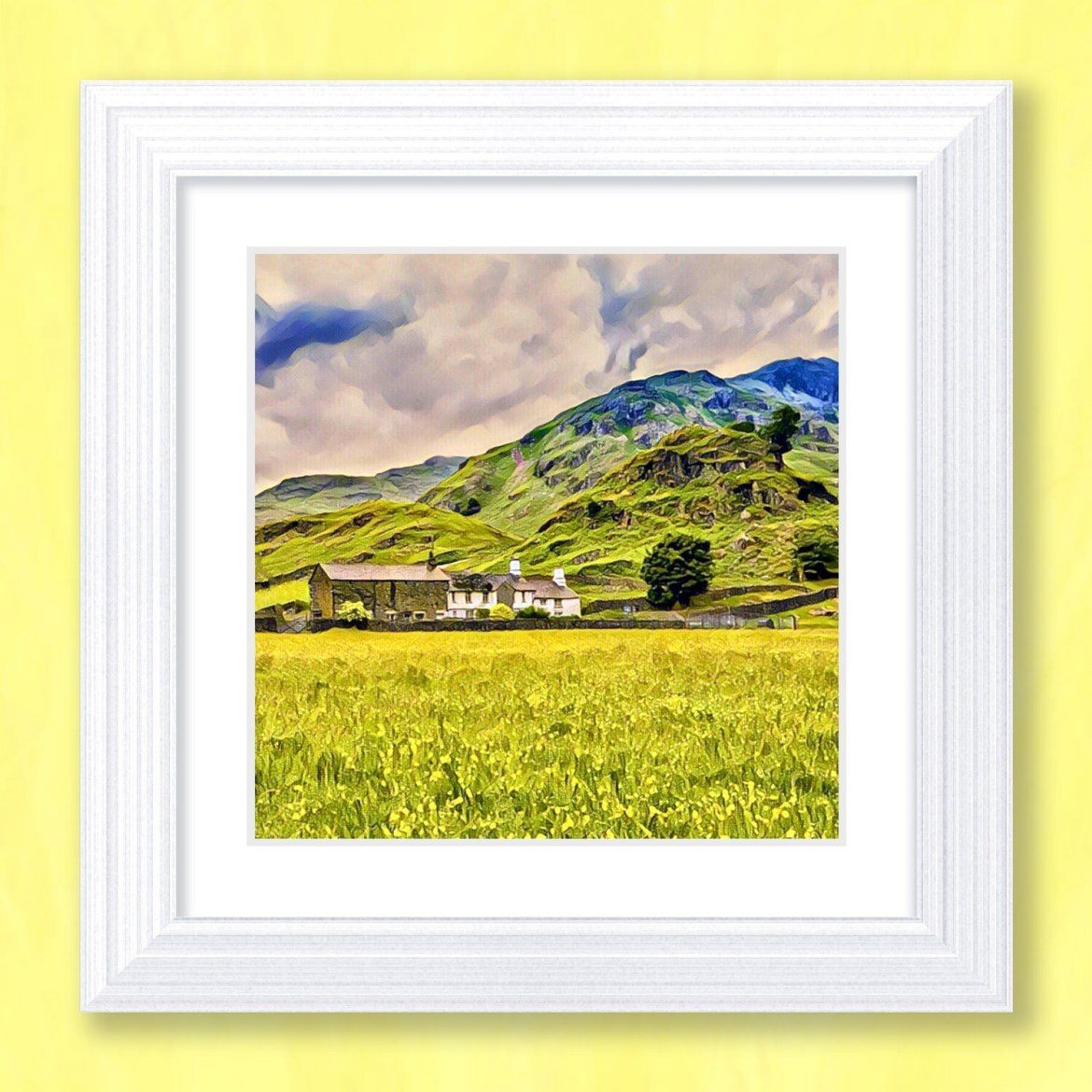 Lakeland Farm Art Print
