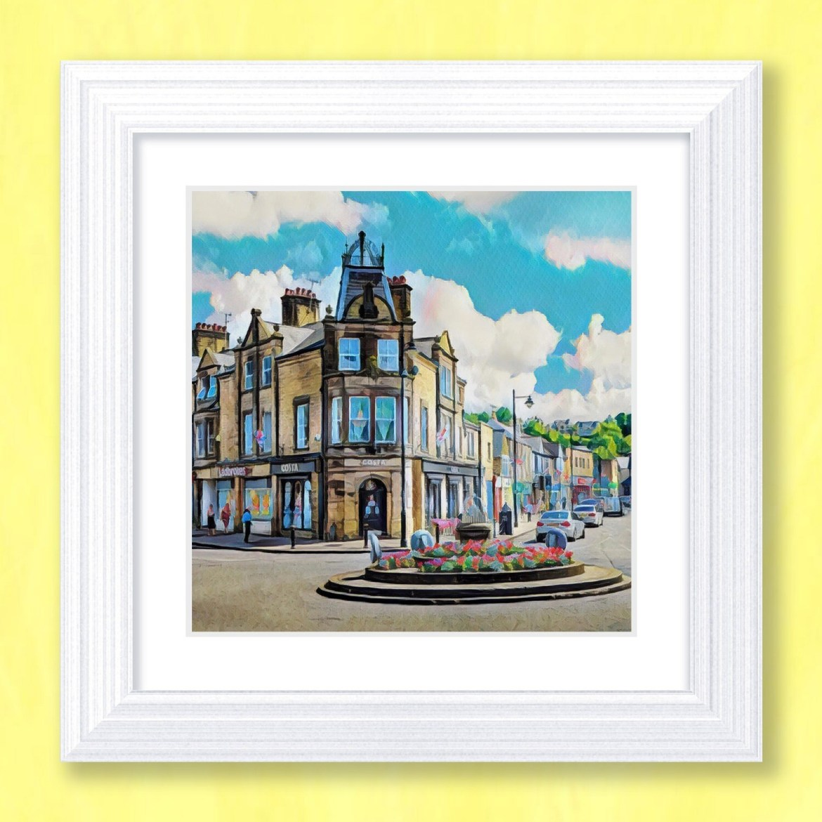Crown Square Art Print