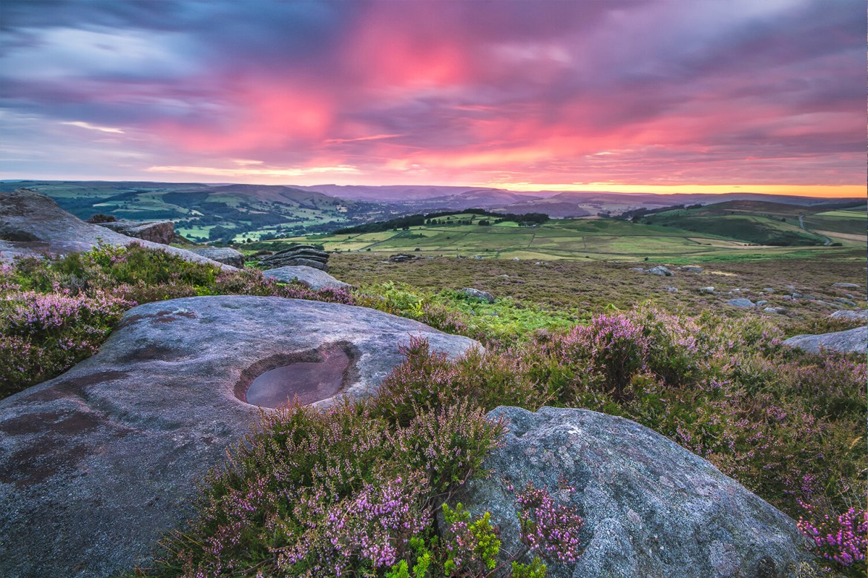 Over Owler Tor Sunset
