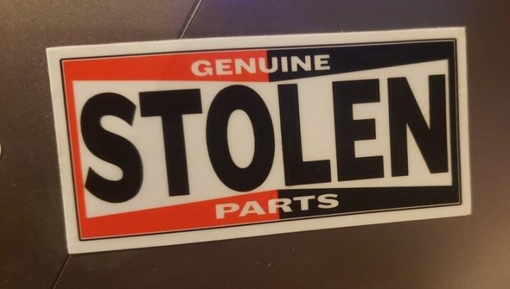 Stolen Parts....